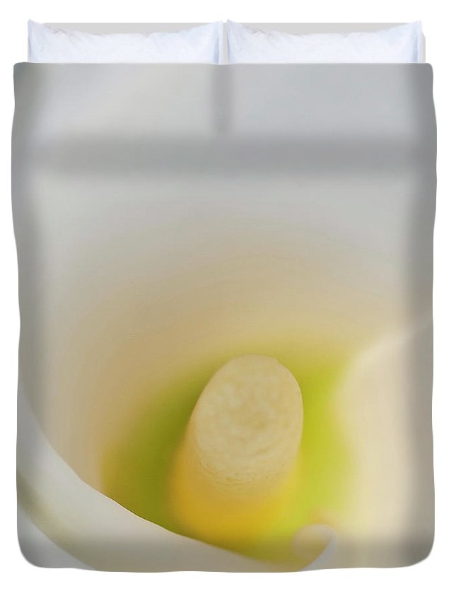 Calla Duvet Cover featuring the photograph Calla Details 4 by Heiko Koehrer-Wagner