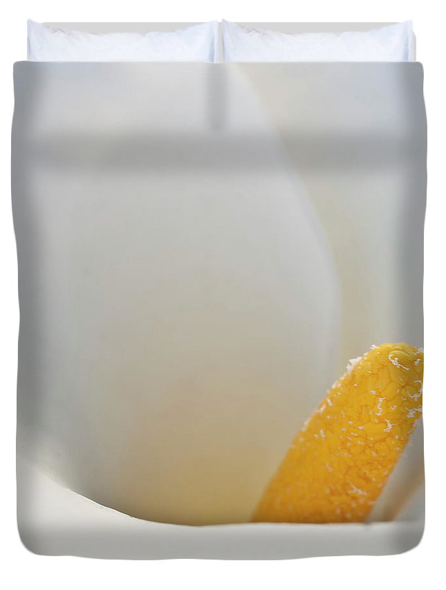 Calla Duvet Cover featuring the photograph Calla Details 5 by Heiko Koehrer-Wagner