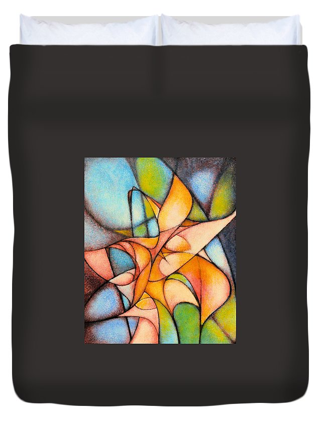 Contemporary Duvet Cover featuring the painting Calla Lillies by Kevin Lawrence Leveque
