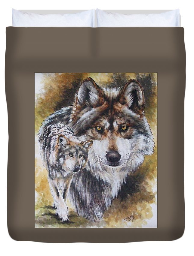 Wildlife Duvet Cover featuring the mixed media Callidity by Barbara Keith