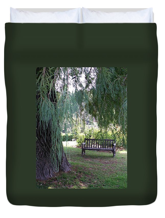 Landscape Duvet Cover featuring the photograph Calm by Amy Fose