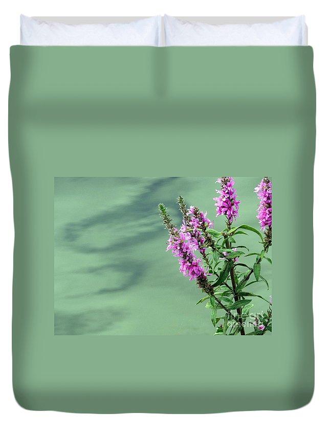 Flower Duvet Cover featuring the photograph Calm by Jo Hoden