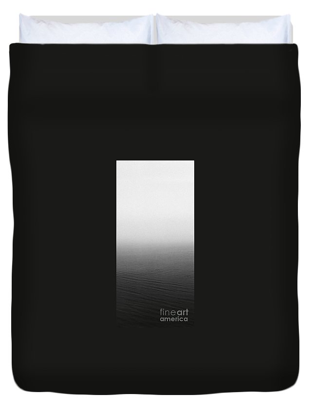 Panels Entrance Hall Duvet Cover featuring the photograph Calm Sea by Archangelus Gallery
