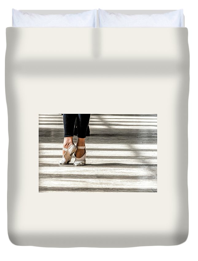Architectural Photographer Duvet Cover featuring the photograph Camaguey Ballet 2 by Lou Novick