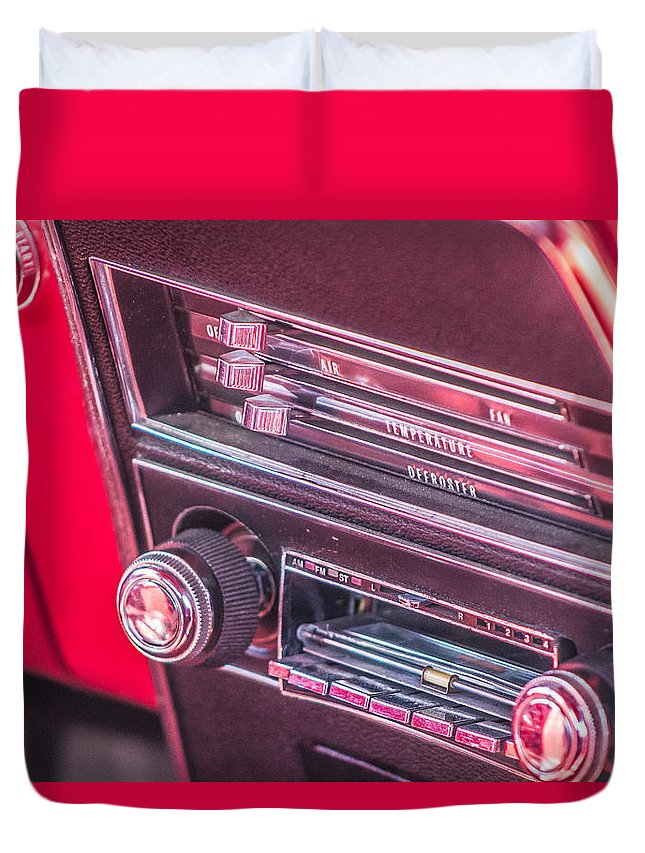 Cars Duvet Cover featuring the photograph Camaro Controls by Tammy Bryant