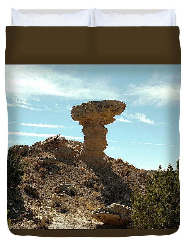 Rocks Duvet Cover featuring the photograph Camel Rock by Jeff Swan
