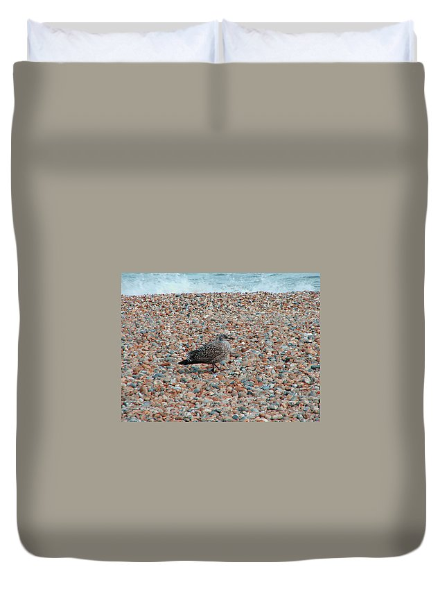 Camo Duvet Cover featuring the photograph Camo Chick by Heather Lennox