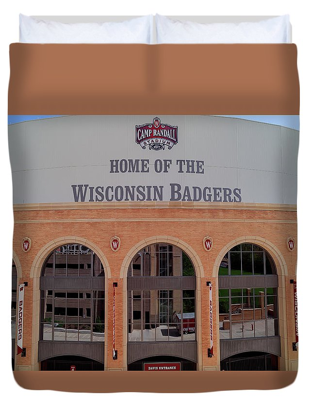 College Duvet Cover featuring the photograph Camp Randall by Rockland Filmworks