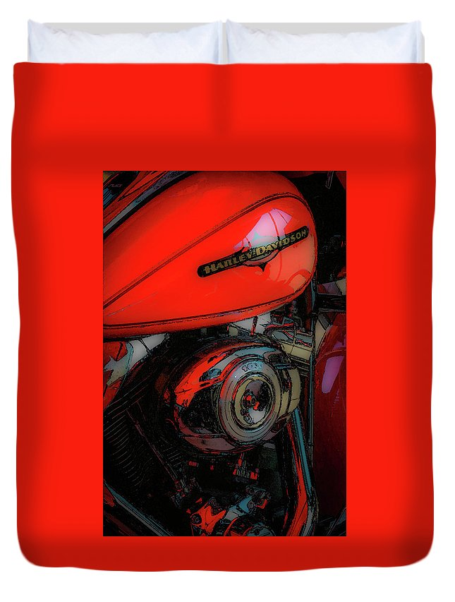 Rumble Duvet Cover featuring the photograph Can You Feel The Rumble 4420 G_2 by Steven Ward