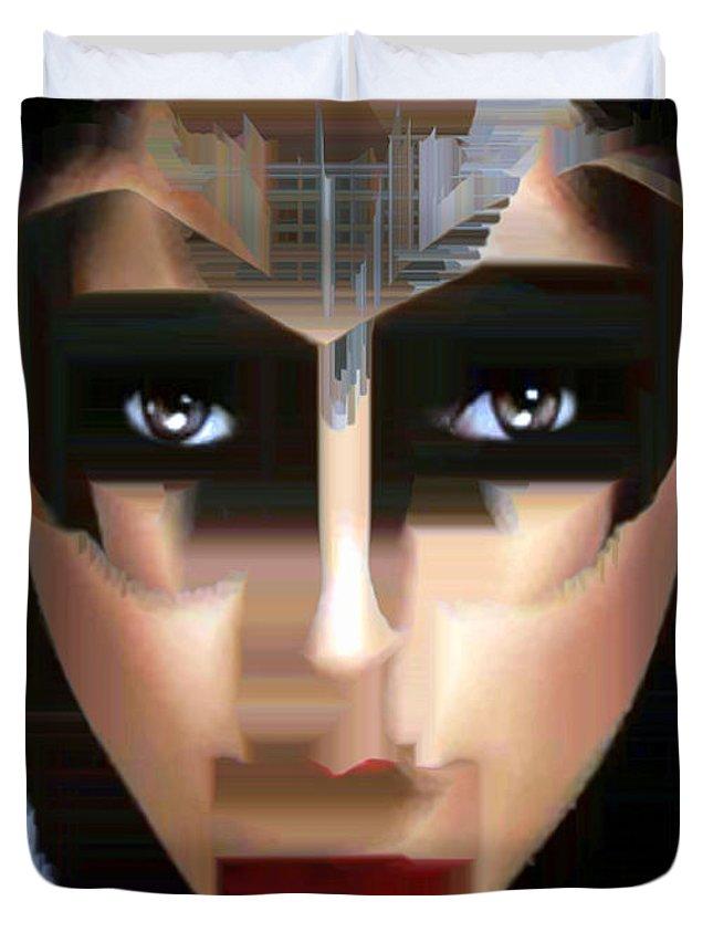 Rafael Salazar Duvet Cover featuring the digital art Can You Tell by Rafael Salazar