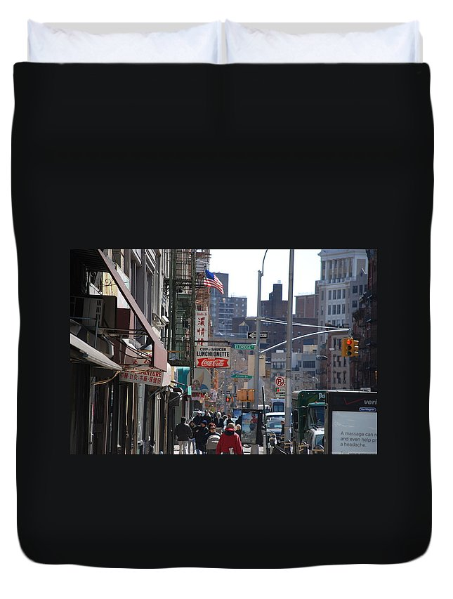 Architecture Duvet Cover featuring the photograph Canal And Eldridge by Rob Hans