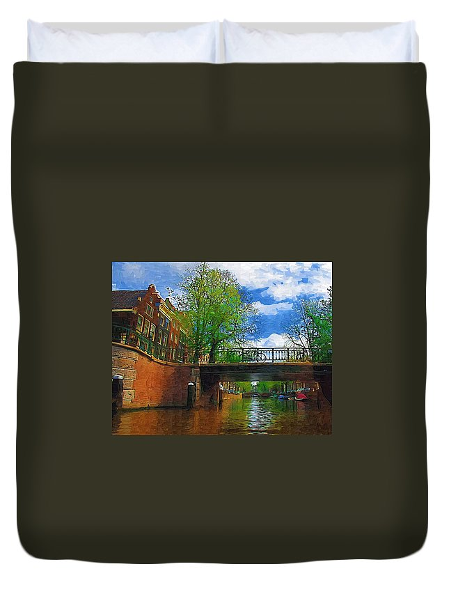 Amsterdam Duvet Cover featuring the photograph Canals Of Amsterdam by Tom Reynen