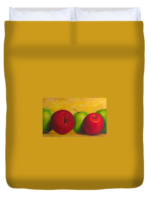 Still Life Duvet Cover featuring the painting Cancan by Shannon Grissom
