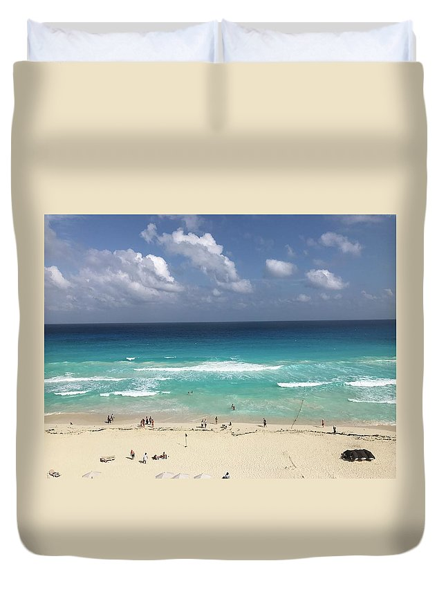 Beach Duvet Cover featuring the photograph The Best View Of The Beach by Brittany Nicotra