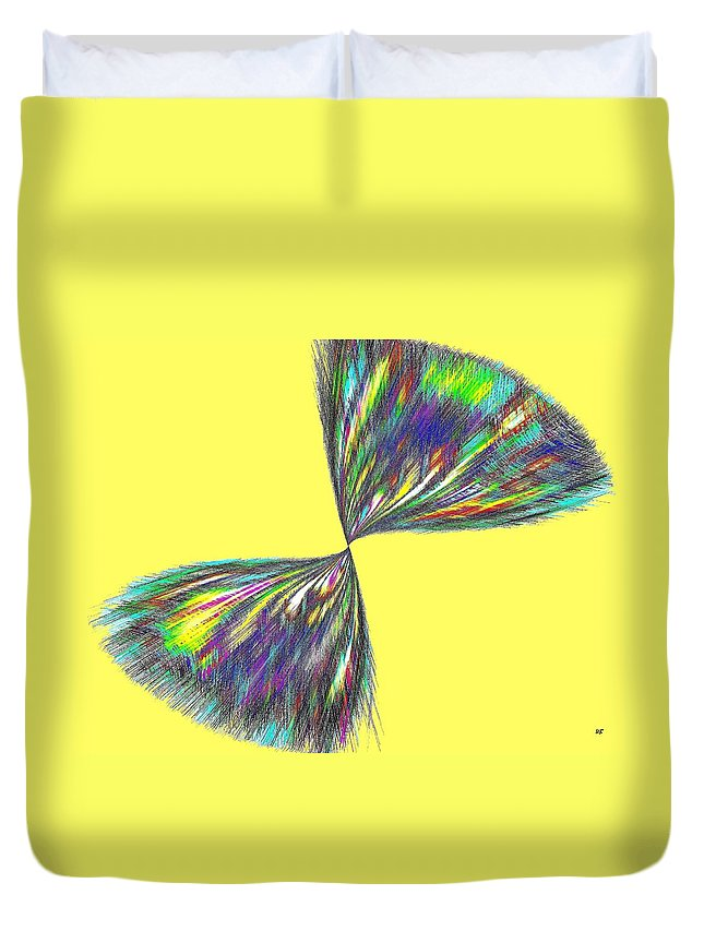 Abstract Duvet Cover featuring the digital art Candid Color 12 by Will Borden