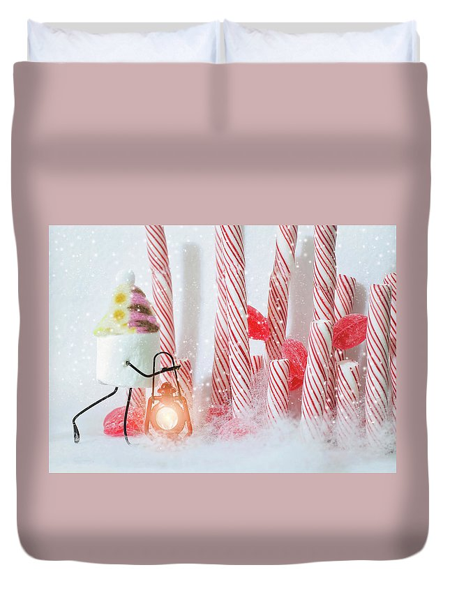 Candy Cane Forest Duvet Cover For Sale By Heather Applegate