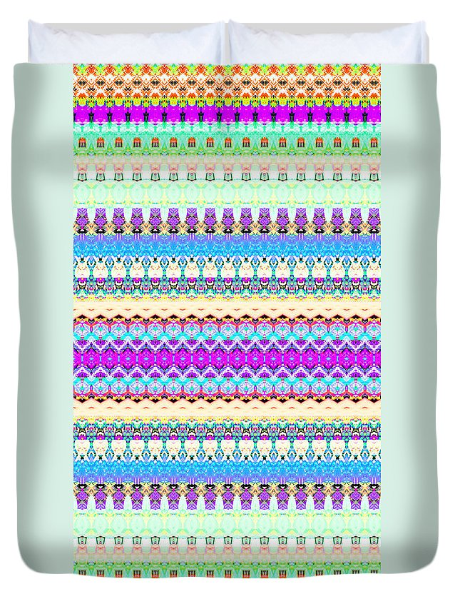 Candy Duvet Cover featuring the digital art Candy Glitch by Robyn Parker