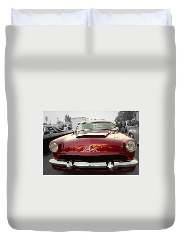 Cars Duvet Cover featuring the photograph Candy Red by Jesse Sanchez