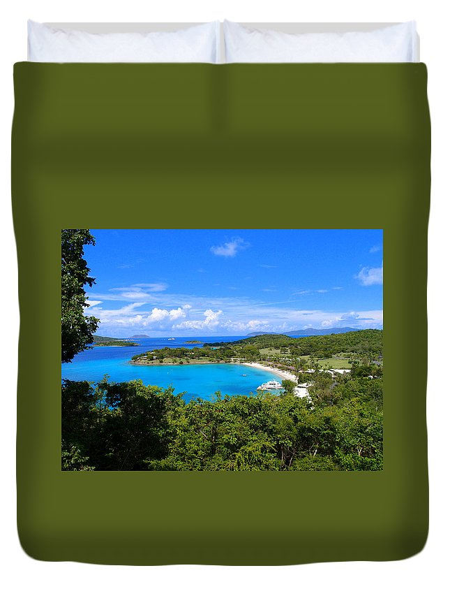 Duvet Cover featuring the photograph Caneel Bay by Todd Hummel