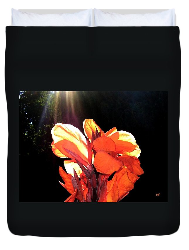 Canna Lily Duvet Cover featuring the photograph Canna Lily by Will Borden