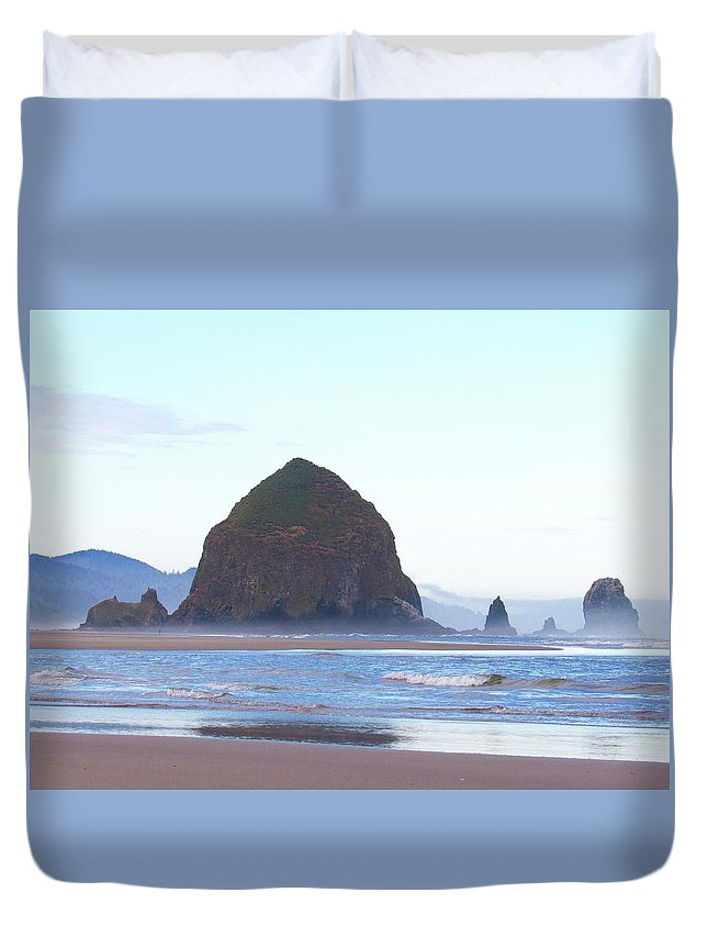 Duvet Cover featuring the photograph Cannon Beach Summer 2016 by Ryan Crandall