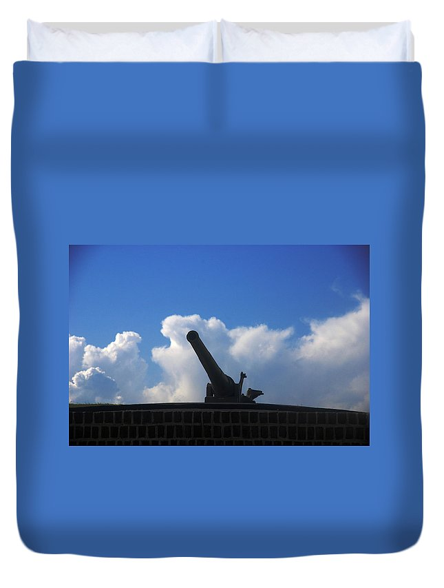 Photography Duvet Cover featuring the photograph Cannons At Fort Moultrie Charleston by Susanne Van Hulst