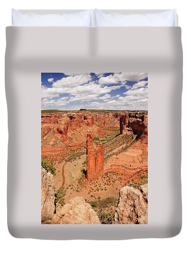 Canyon De Chelly Duvet Cover featuring the photograph Canyon De Chelly by Sherry Adkins
