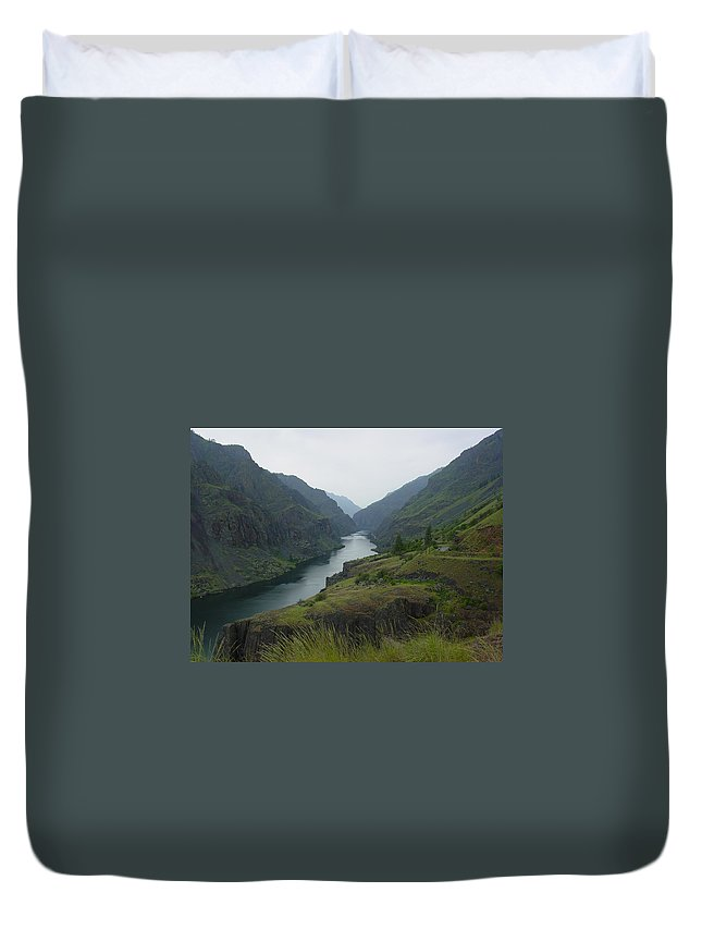 Canyon Duvet Cover featuring the photograph Canyon by Sara Stevenson