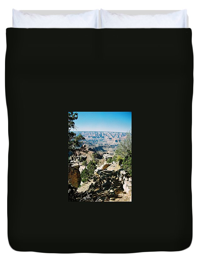 Grand Canyon Duvet Cover featuring the photograph Canyon Shadows by Cathy Franklin