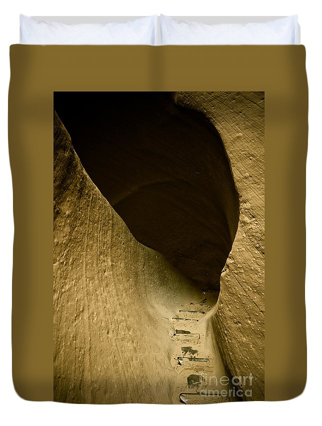 Photograph Duvet Cover featuring the photograph Canyon Steps by Scott Sawyer