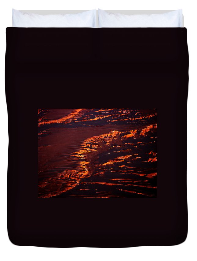 Landscape Photography Duvet Cover featuring the photograph Canyonland From 36k by Strato ThreeSIXTYFive