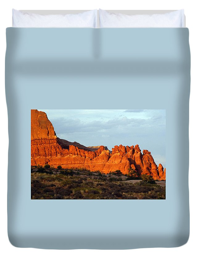 Utah Duvet Cover featuring the photograph Canyonlands At Sunset by Marty Koch