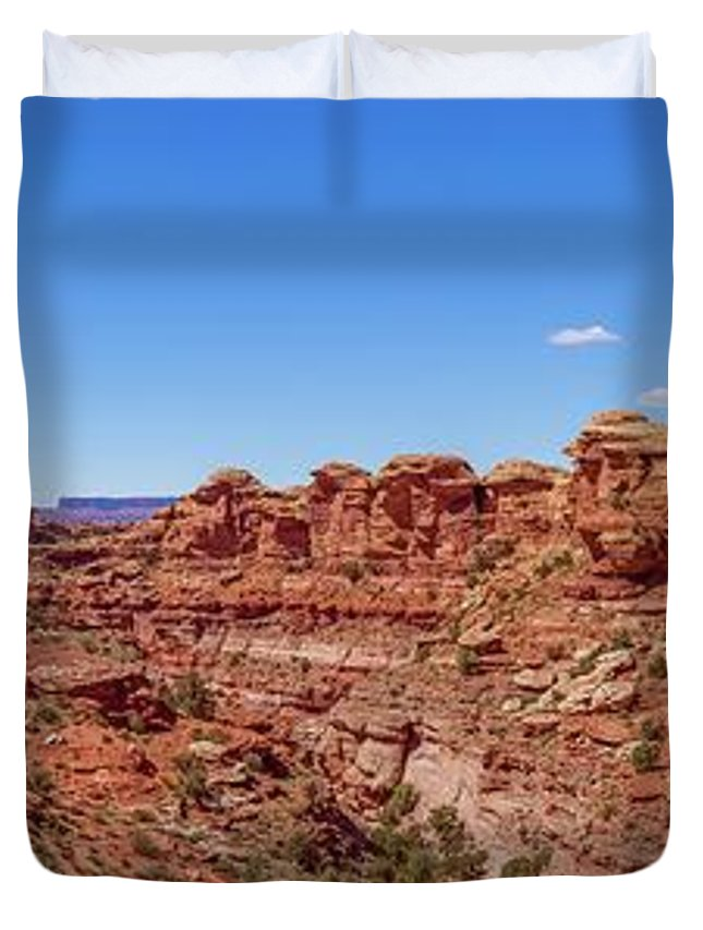 National Parks Duvet Cover featuring the photograph Canyonlands National Park - Big Spring Canyon Overlook by Brenda Jacobs