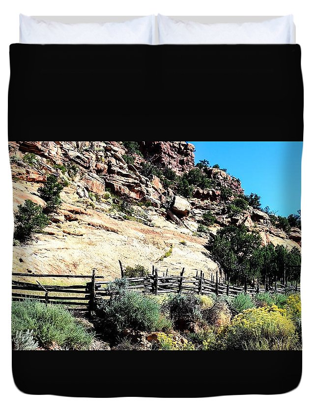 Parks Duvet Cover featuring the photograph Canyonlands Series 15 by Ron Latimer