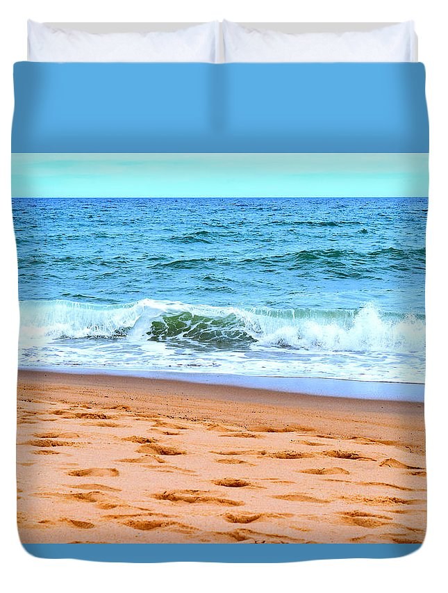 Cape Cod Duvet Cover featuring the photograph Cape Cod Beach Day by Kate Arsenault