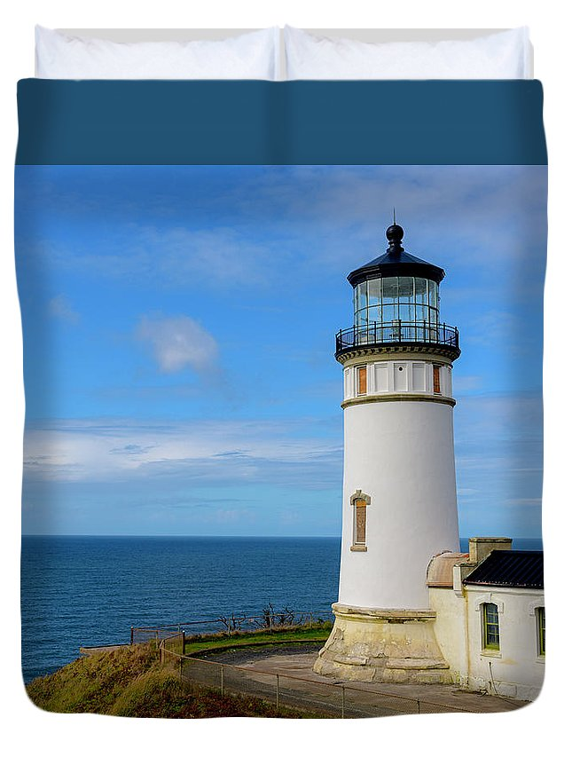 Cape Disappointment Duvet Cover featuring the photograph Cape Disappointment by Jeffrey Hamilton