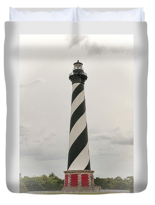 Cape Hatteras Light Duvet Cover featuring the photograph Cape Hatteras Light by Phyllis Taylor