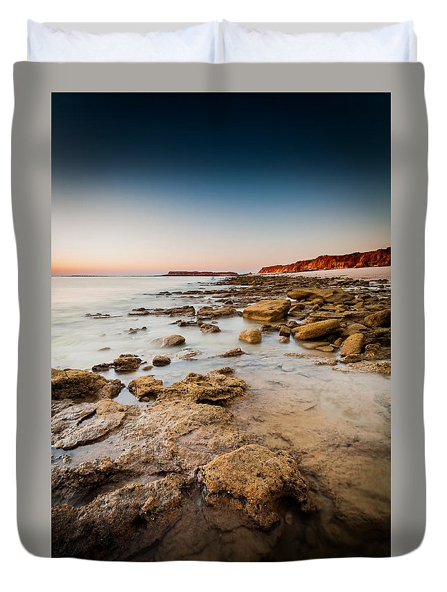 Broome Duvet Cover featuring the photograph Cape Leveque by George Harris