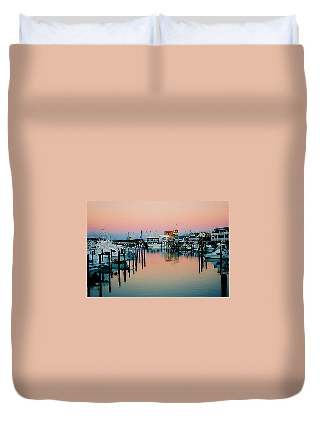 Cape May Duvet Cover featuring the photograph Cape May After Glow by Steve Karol
