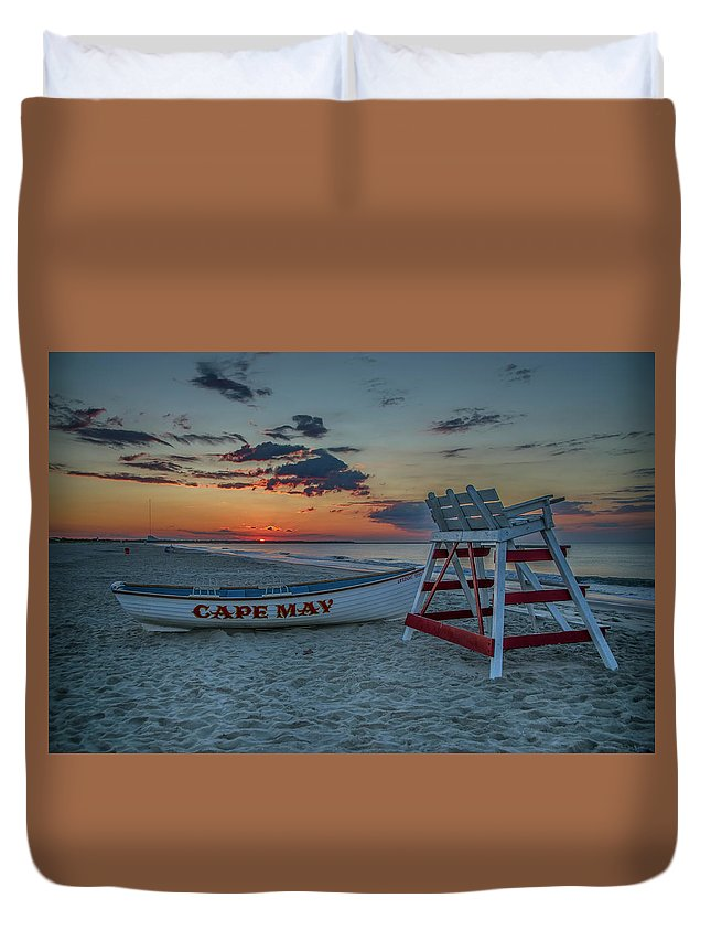 Cape Duvet Cover featuring the photograph Cape May At Sunrise - Cape May New Jersey by Bill Cannon