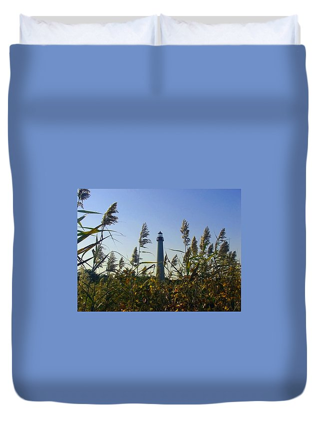 Autumn Duvet Cover featuring the photograph Cape May Light Autumn by Kevin Sherf
