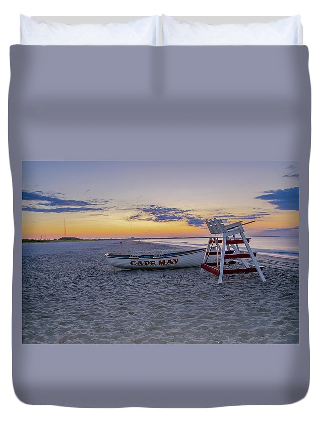 Cape May Duvet Cover featuring the photograph Cape May Mornings by Bill Cannon