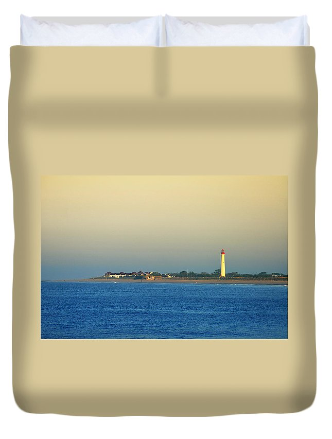 Cape May New Jersey Duvet Cover featuring the photograph Cape May New Jersey by Bill Cannon