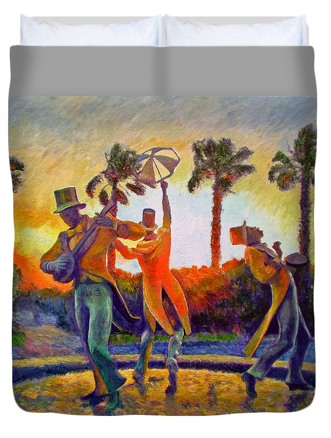 Sunset Duvet Cover featuring the painting Cape Minstrels by Michael Durst