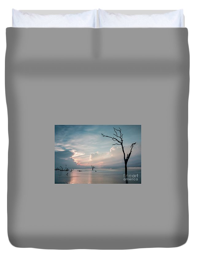 Bulls Island Duvet Cover featuring the photograph Cape Romain by DiFigiano Photography
