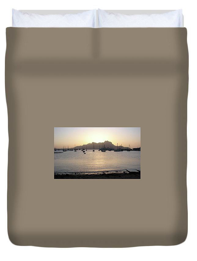 Cape Verde Duvet Cover featuring the photograph Cape Verde Sunset by Brett Winn