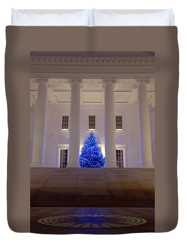 Richmond Duvet Cover featuring the photograph Capital In Blue by Kelvin Booker