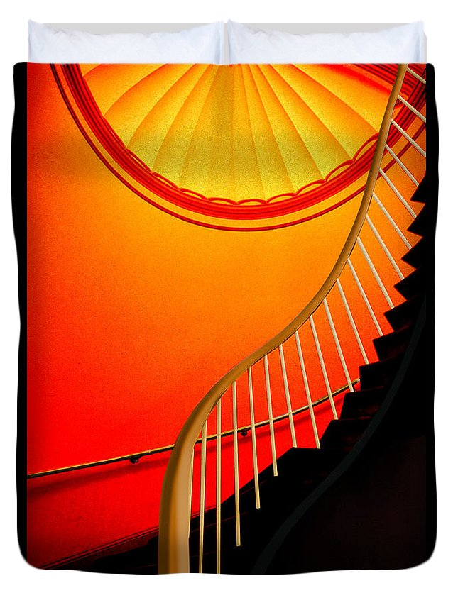 Capital Duvet Cover featuring the photograph Capital Stairs by Paul Wear