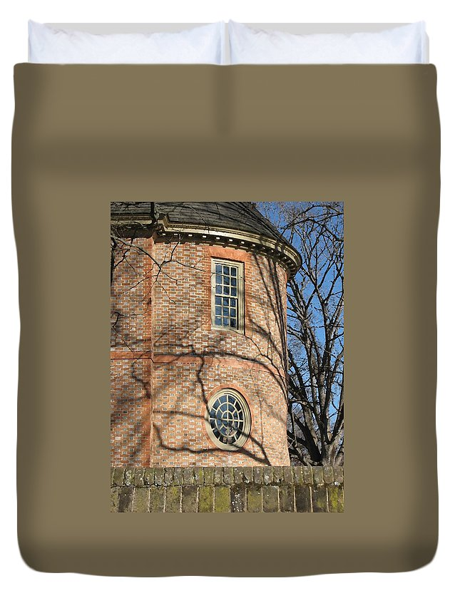 Williamsburg Duvet Cover featuring the digital art Capitol Detail - Williamsburg by Lin Grosvenor