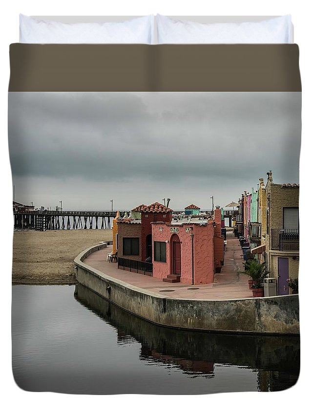 Duvet Cover featuring the photograph Capitola 4 by Wendy Carrington